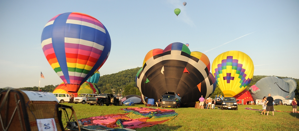Hot Air Balloons at the Fair