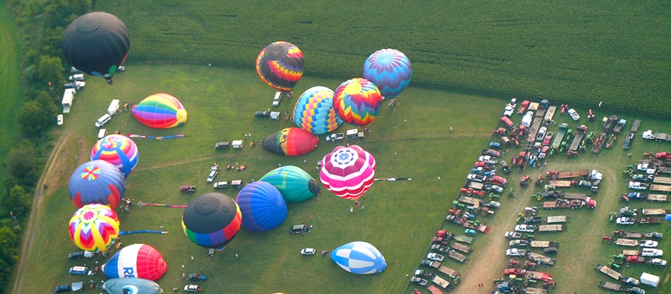 Balloon Launch Field From The Air