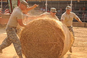 Hay Bale Rolling Contest